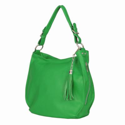 Geanta dama din piele naturala Edina verde