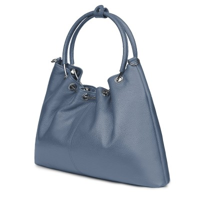 Geanta dama din piele Venezia bleu