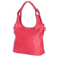 Geanta de dama din piele naturala Serena rosie
