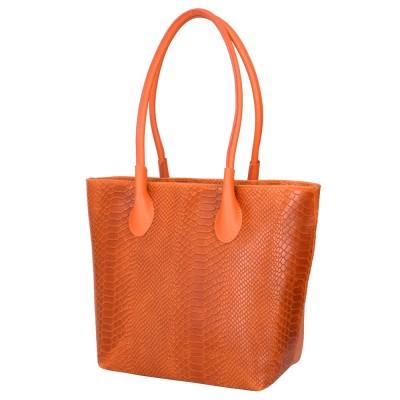 Poseta din piele naturala Ava portocalie
