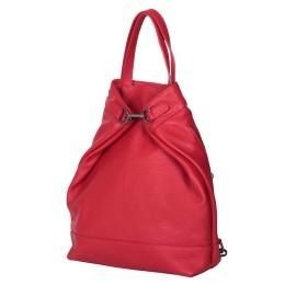 Rucsac si geanta din piele naturala 2-in-1 Ingrid rosu