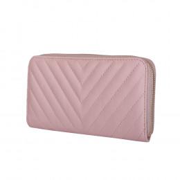 Portofel dama din piele Bello roz