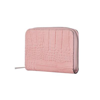Portofel dama din piele naturala Yanni roz