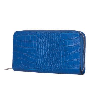 Portofel dama din piele naturala Yanni albastru XL