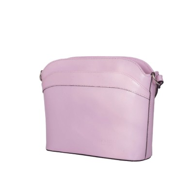 Poseta din piele naturala Teresa roz