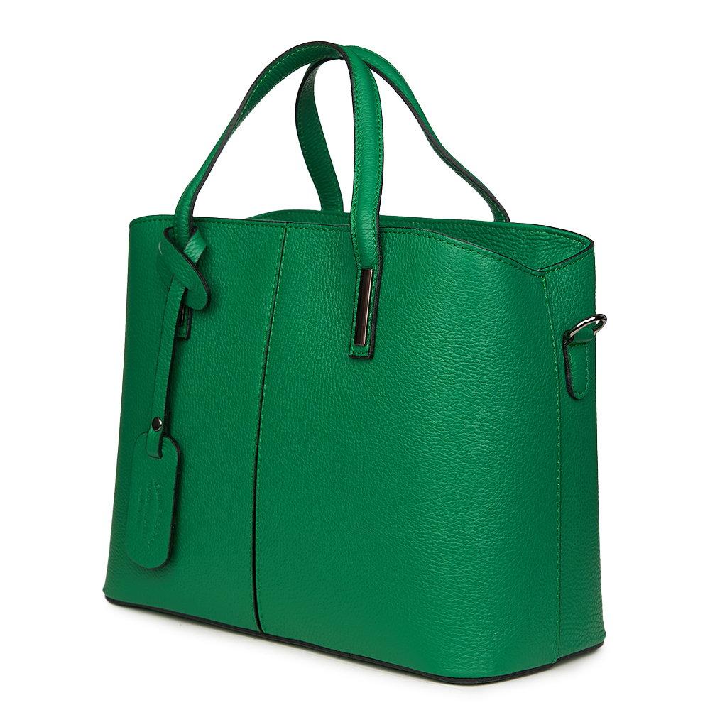 Geanta dama din piele naturala Gianna verde imagine myown.ro