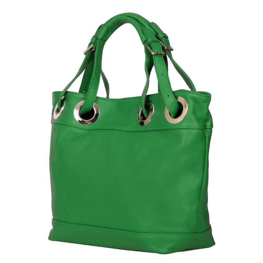 Geanta dama din piele naturala Stella verde imagine myown.ro