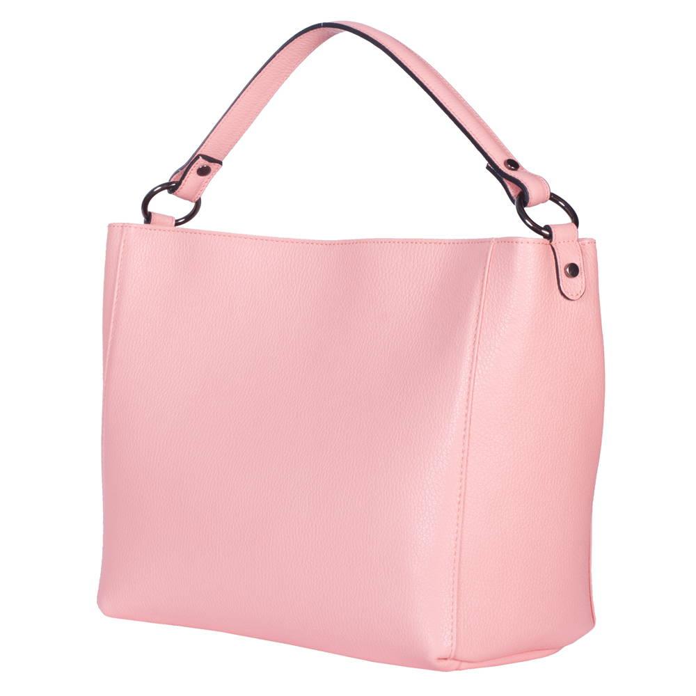 Geanta din piele Victoria roz imagine myown.ro