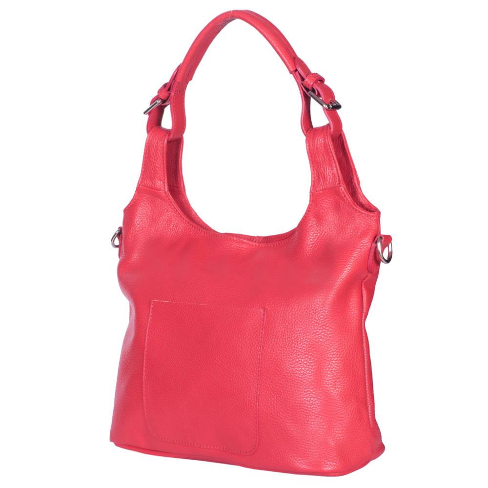 Geanta de dama din piele naturala Serena rosie imagine myown.ro