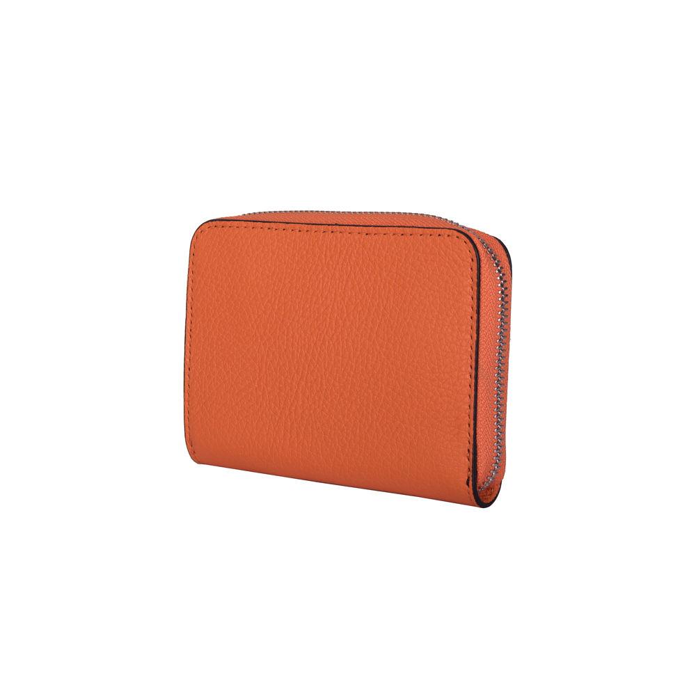 Portofel dama din piele naturala Enrico portocaliu imagine myown.ro